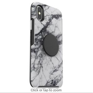 iPhone XR marble otterbox popsocket phone case